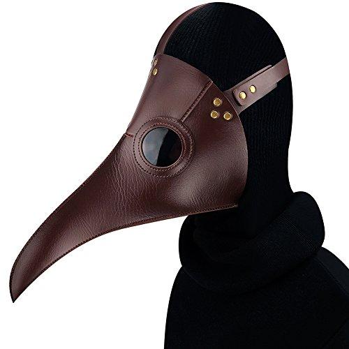 DEMO Pest-Doktor Maske Exquisite Steampunk Geier Maske für Halloween Cosplay Partei Creepy Bird Beak Kostüm Maske für Karneval Maskerade Bälle Parteien Festivals