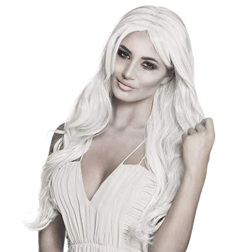Boland 86198 - Parrucca da Principessa Fantasma, Colore: Bianco