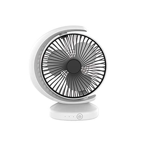 Ventilador De Escritorio USB Portátil Recirculación De Viento Mute con 3 Velocidad De Control, Ventilador Eléctrico, Liqingshangmao (Color : White)