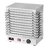 Wärmeplatte | Rechaud Batterie | Set: mit 10 Warmhalteplatten | 1200 Watt