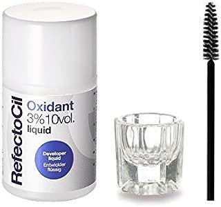 RefectoCil Liquid Oxidant 3% 10 VOL 3.38 oz + Mixing Dish & Mascara Brush