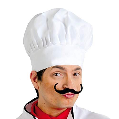 Guirca 13011 - Cappello da cuoco, in tessuto, taglia unica, colore: Bianco