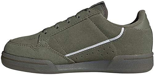 adidas Continental 80 C, Zapatillas de Gimnasio, Legacy Green/FTWR White/Core Black, 32 EU