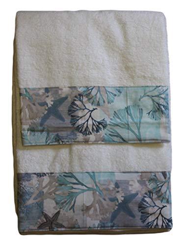 RICAMI FIORENTINI BALDI Set 2 Asciugamani in Spugna di Cotone 100% (Marina)