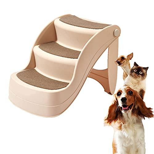 HXXXIN Pet Treppen Klappbett Sofa Leiter Kleiner Hund Teddy Katze Kletterleiter Kunststoff rutschfeste Haushaltshundeschritte