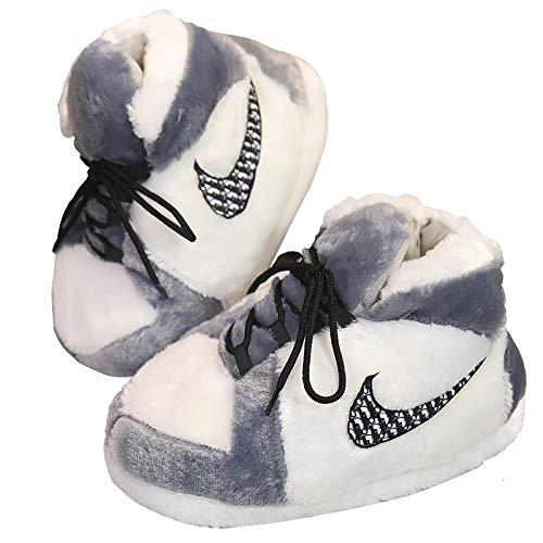 WONDERFUL TIME Jordan Alike Sneaker Slippers Comfy Kicks Non-Slip Sole Funny Shoes for Men Women - One Size Fits All…