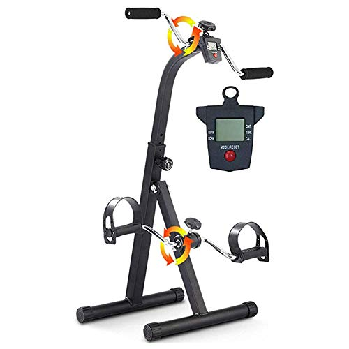 YOUGL Ginnico a Pedale Medico, Cyclette stazionaria, Attrezzatura per Riabilitazione Fitness Regolabile per Anziani, Allenamento per Gambe e Braccia Anziani, con Monitor LCD