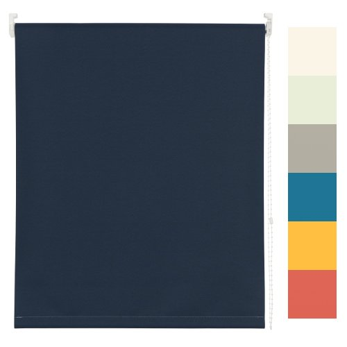 Rollo Verdunkelung + Lichtschutz Seitenzug, Breite kürzbar, Jalousie Plissee (Tageslicht – Weiss, 100 x 190 cm BxH)