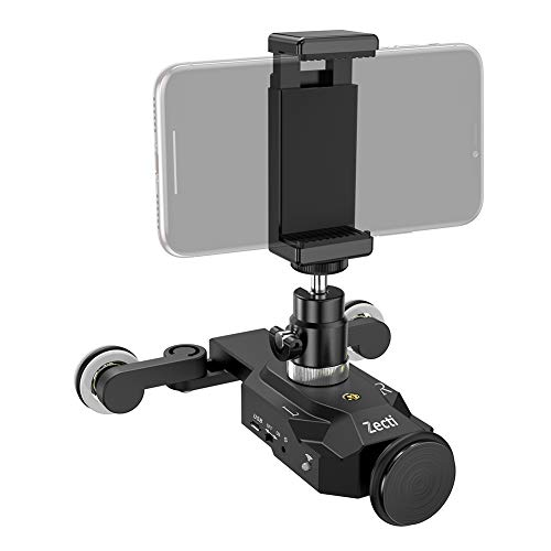 Zecti Camera Slider Dolly Rolling Slider Dolly Car Skater Video Track Remote Control 10 Speed Weight Up to 6kg Adjustable Chargeable Mini Slider for Canon Nikon Sony DSLR Camera IOS Android Smartphone