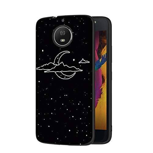 Zhuofan Plus Funda Motorola Moto G5S, Silicona Suave Negra TPU Gel con Diseño Print Pattern Anti-rasguños Shockproof Protactivo Cover para Motorola Moto G5S, Nublado