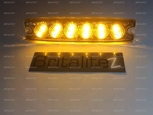 axixtech LP6–Ultra Slim Einsatzfahrzeug Hazard ACHTUNG Gitter und externe LED-Licht