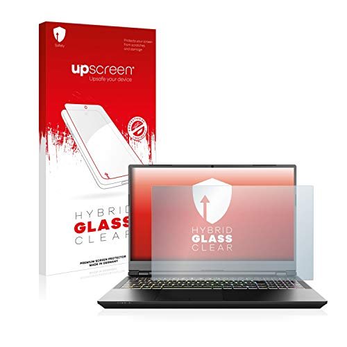upscreen Hybrid Glass Screen Protector compatible with Schenker XMG Pro 15' - 9H Glass Protection