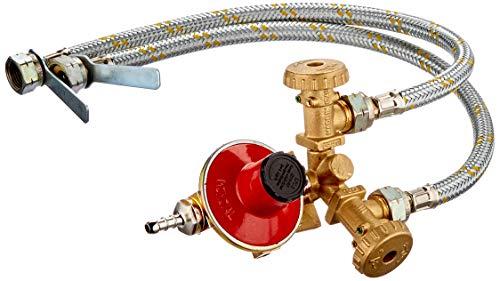 Centralina Per Gas A 2 Uscite Completa Di Flessibili, Regolatore E Valvola Di Sicurezza.