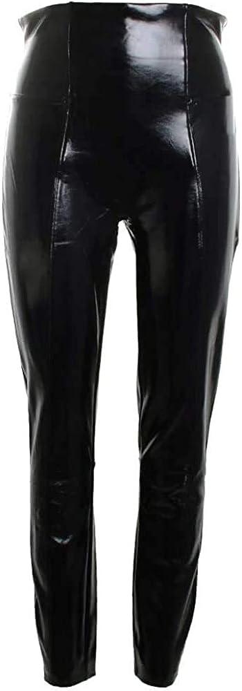 SPANX Women's Black Patent Faux Leather Leggings Size X-Large