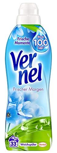 Vernel Frischer Morgen, Weichspüler, 132 (4 x 33) Waschladungen, für einen langanhaltenden Duft