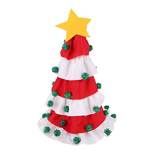 Bolsas de la cubierta de la botella de vino de la Navidad, juego del tenedor del bolso de la cubierta de la botella de vino del árbol de Navidad de la decoración de la Navidad para el partido(blanco)