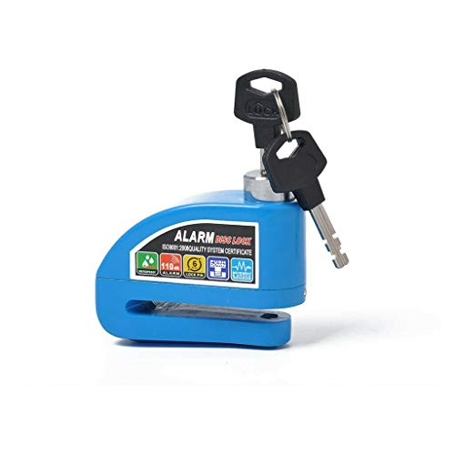 Candado de alarma con sonido de alarma de 110 dB, resistente al agua para motocicleta con 2 llaves y llave hexagonal, bloqueo de seguridad de rueda para motocicletas scooters y bicicletas