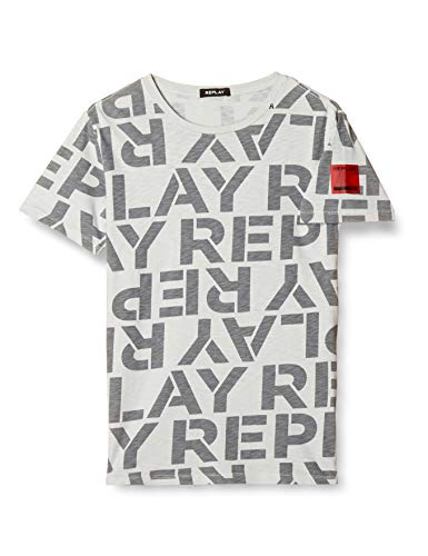 Replay Herren M3029 .000.72002 T-Shirt, Grau (Stone Grey 396), Small (Herstellergröße: S)