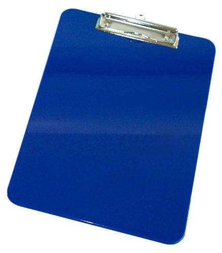 Wedo 57603 Klemmbrett A4, Kunststoff mit abgerundeten Ecken, vernickelte Metallklemme und Aufhängeöse, blau