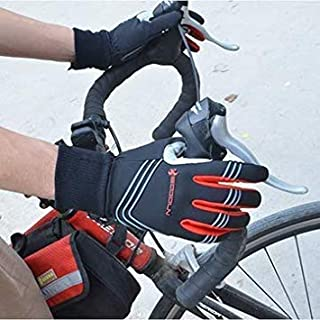 Winter Windproof Riding Gloves Touch Screen Thickened Keep Warm Bicycle Glove [L]