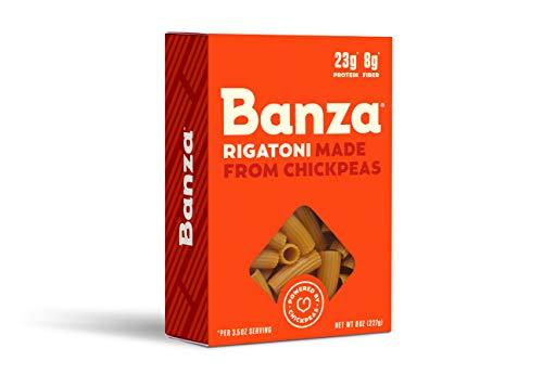 Banza Chickpea Pasta - High Protein Gluten Free Healthy Pasta - Rigatoni (8 oz)