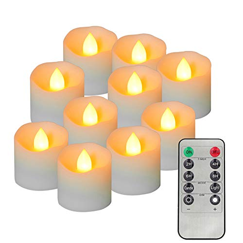 12Pcs LED Tea Lights with Remote Bulk, Battery Powered Flameless Flickering Tea Lights Candles with Timer, Long Battery Life, Ideal for Party, Wedding, Home Decoration (Warm Yellow)
