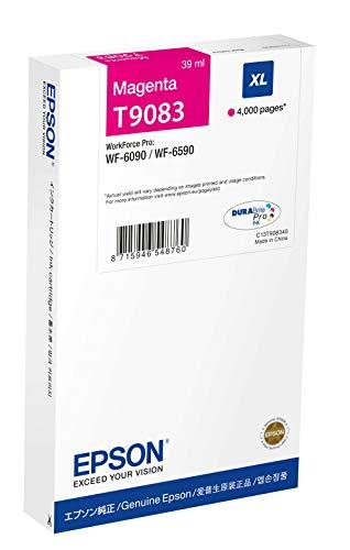 Epson T9083 39ml 4000páginas Magenta Cartucho de Tinta - Cartucho de Tinta para impresoras (Magenta, WF-6090, WF-6590, 39 ml, 4000 páginas, Inyección de Tinta)