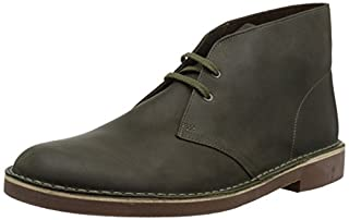 Clarks Men's Bushacre 2 Chukka Boot, Dark Olive Leather, 9.5 M US (B078HRBLGW) | Amazon price tracker / tracking, Amazon price history charts, Amazon price watches, Amazon price drop alerts