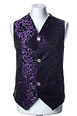 Baydeals Men's Classic Paisley Brocade Steampunk 8 Colors Waistcoat Wedding Festival Vest Suit Set #1