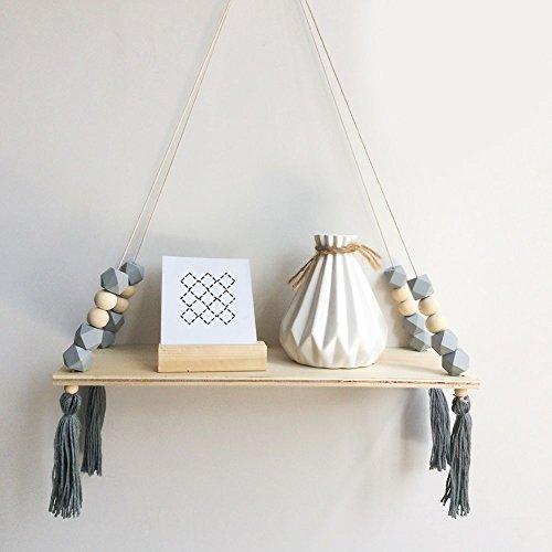 XIYAO Holz Lagerregal, Stilvolle Trendy Regal, Bücherregal, Pflanzen Rack, Wandregal Regal für Baby Zimmer/Home / Wohnzimmer/Bad