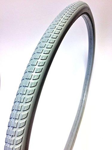 Rollstuhlreifen 24 x 1 3/8 absolut pannensicher ETRTO 37-540 (24 Zoll), grau, aus 100% Polyurethan, guter Komfort, für Standardrollstühle, nie mehr Luftverlust, Stollenprofil