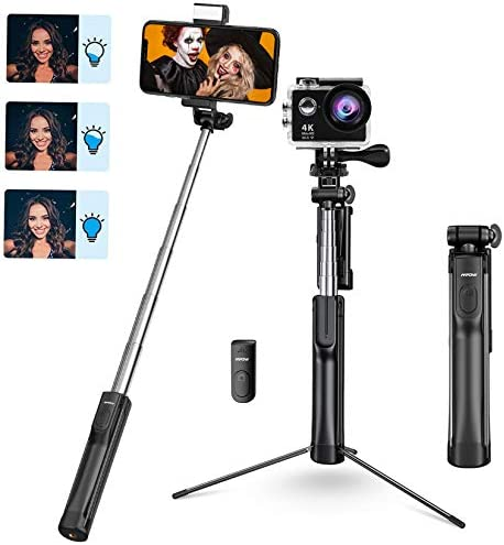 Selfie Stick Mpow Selfie Stick Tripod Lightweight Extendable Phone Tripod with 3 Level Fill product image