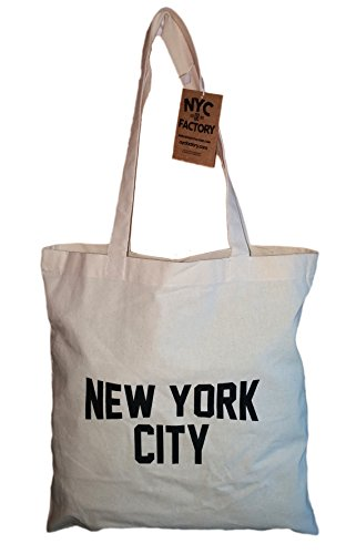 NYC Tote Bag New York City 100% Cotton Canvas Screenprinted