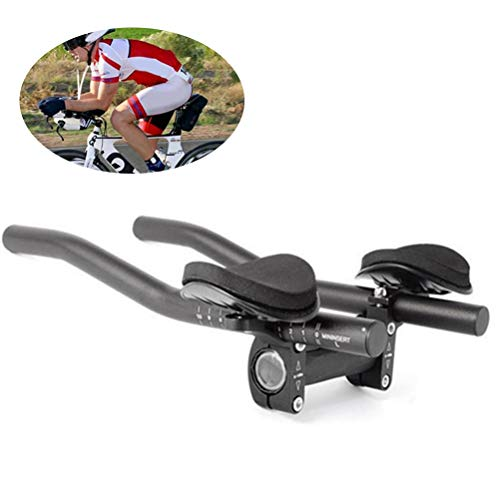 HAINIWER TT Lenker Aero Bar, Triathlon Radsport Lenker Lenker Aluminiumlegierung Fahrrad Aerobars für Mountainbike, Rennrad, MTB
