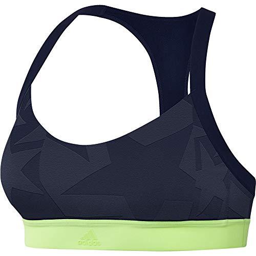 adidas Damen Unterwäsche All Me Iteration Sport-BH Damen - zitronengelb, Dunkelblau, XS, FTY95