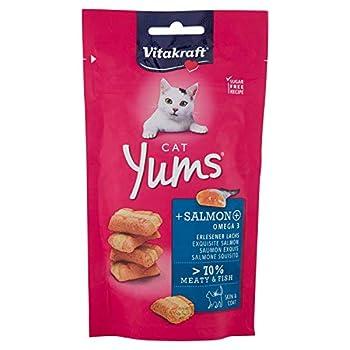 VITAKRAFT Pack de 9 Cat Yums Saumon Friandise pour Chat 40 g