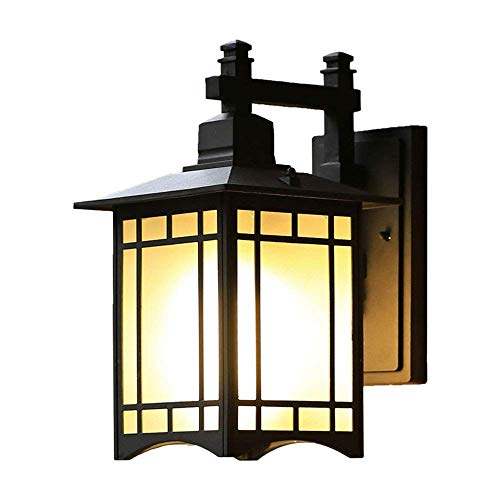 Lampara Pared,Lámpara de pared para exteriores Lámpara de pared de vidrio retro para patio Lámpara de pared Vintage Antioxidante Antideflagrante Impermeable Aplique de pared exterior Lámpara de pa