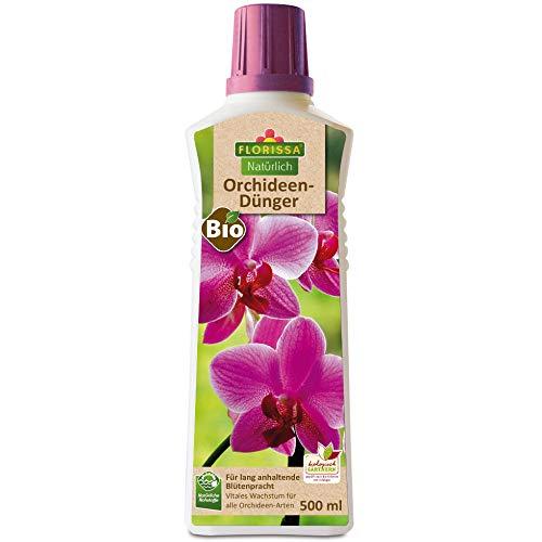 Florissa Natürlich 58860 Bio Orchideendünger für alle Orchideenarten | lang anhaltende Blütenpracht | vegan, aus rein pflanzlichen Rohstoffen | biologisch GÄRTNERN Gütesiegel, Braun