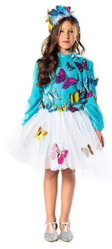 KOSTUumlM Fasching Karneval Prinzessin DER Schmetterlinge fuumlr KARNAVALKOSTUumlME Fancy Dress Halloween Cosplay Veneziano Party 51155 Size 8/M
