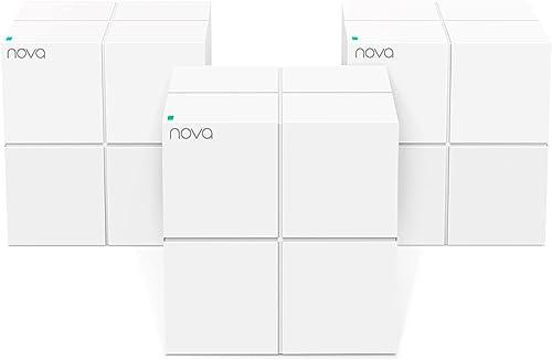 Tenda Nova MW6-3 Whole Home Mesh Wi-Fi System, 6000sq² Wi-Fi Coverage, Two Gigabit Ports, APP Control, Easy Set Up, W...