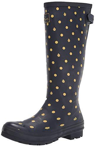 Joules womens Rain Boot, Navy Ladybird, 9 US