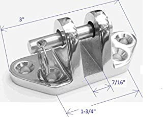 Marine Grade Stainless Steel Deck Hinge With Removable Pin -- Heavy Duty