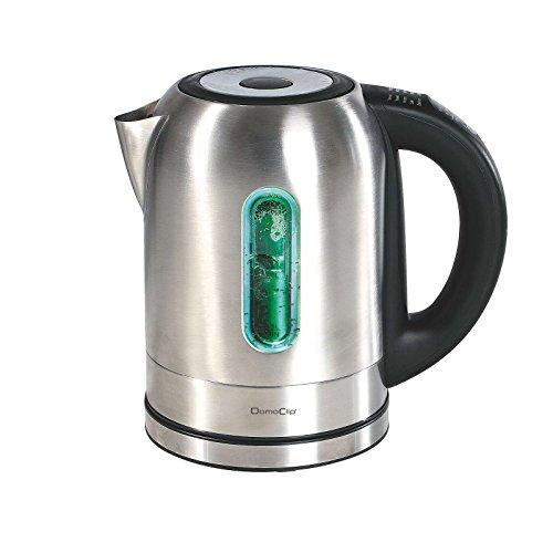 Wasserkocher Edelstahl 1,7 Liter Kabellos 2200 Watt mit Temperatureinstellung (Temperaturanzeige, Überhitzungsschutz, Automatische Abschaltung, Temperaturregler)