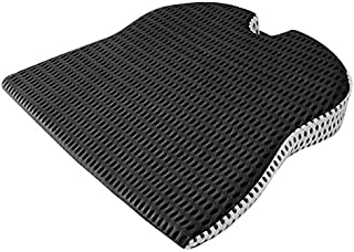 DKX Car Wedge Seat Cushion for Car Driver Seat Office Chair Wheelchairs Memory Foam Seat Cushion- Support and Relief (Size...