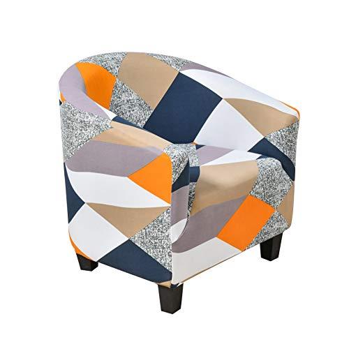 DDK Tub Stuhl Sessel, Club Chair Schonbezug, Jacquard Elastisch Wannenstuhlbezug Sesselüberwurf Sesselschoner Stretch Sofahusse, Modern Wohnzimmerdekoration #9