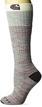 Carhartt womens Knee High With Outdoor Scene Casual Sock Heather Gray Shoe Size 5-12 US