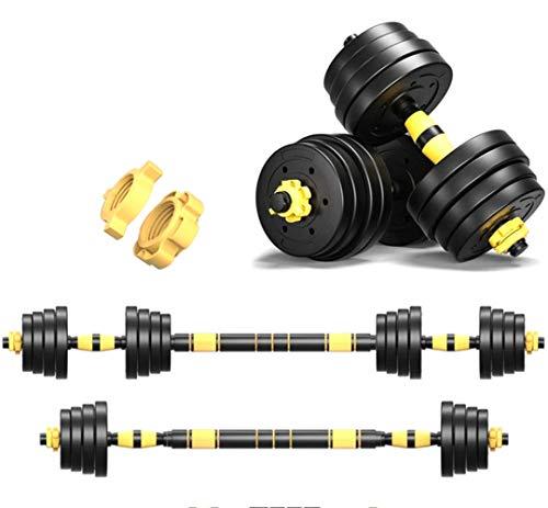 Kit Mancuernas Musculacion Grandes Mancuernas, Pesas Ajustables,Para Entrenar En El Gimnasio y En Casa 44lbs / 20kg