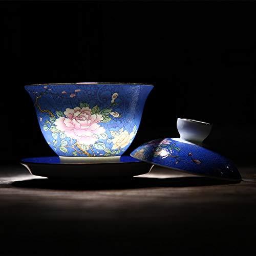 QCCOKNN Vasos de cocina de cerámica con tapa para taza, vasos para bebidas manuales
