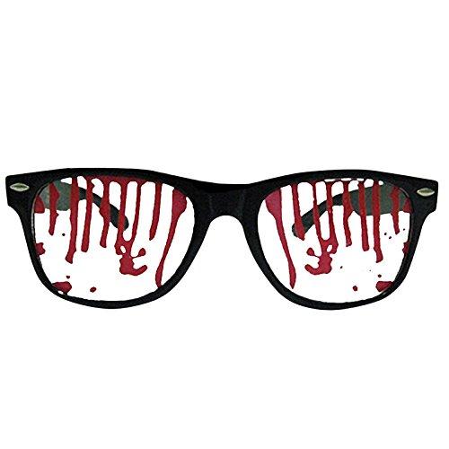Lunettes fantaisies Halloween - Paire de lunettes ensanglantées