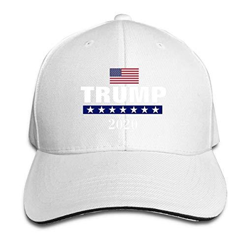 VTXINS Trump 2020 Houd Amerika Grote Verstelbare Baseball Caps Vintage Sandwich Cap, Persoonlijkheid Caps Hoeden Mannen Vrouwen Casual Denim Verstelbare Papa Hoed Baseball Cap Trucker Hoed